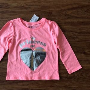 NWT The Children's Place pink long sleeve tee